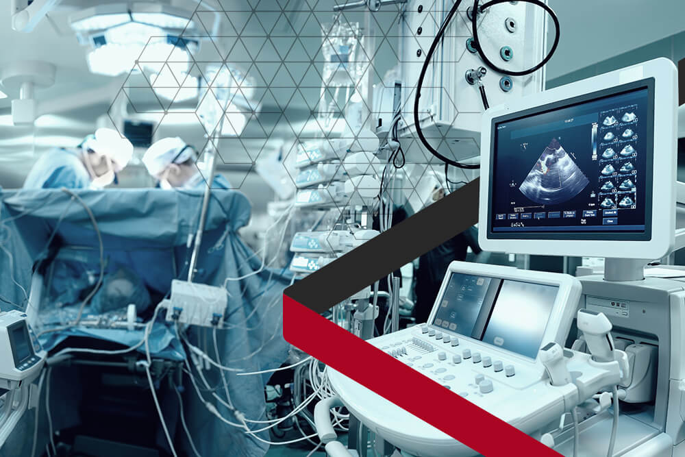 Operating room with medical devices protected